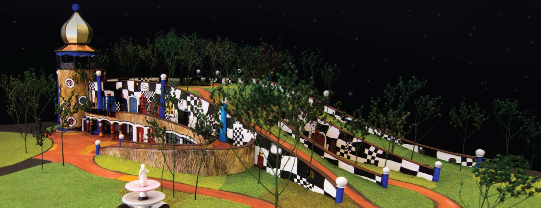Hundertwasser Art Centre with Wairau Maori Art Gallery model